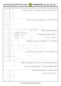 سوالات امتحانی ریاضی نهم سراسر کشور - فصل6 - خرداد97 - 2